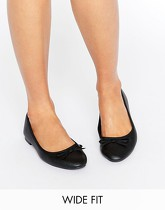 New Look - Ballerine in pelle sintetica comode - Nero