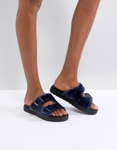 Carvela - Krumble - Slider in montone - Navy
