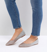 ASOS - LATCH - Ballerine a punta a pianta larga - Multicolore