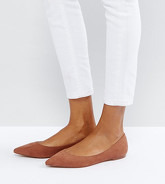 ASOS - LATCH - Ballerine a punta - Marrone