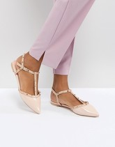 Dune London - Cayote - Scarpe basse con borchie - Rosa