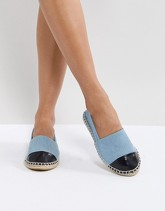 Truffle Collection - Espadrilles con punta rivestita - Blu