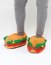 ASOS - Pantofole hamburger - Multicolore